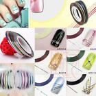 30 Pcs Mixed Colors Rolls Striping Tape Line Nail Art Tips Decoration Sticker TA