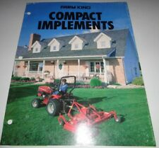 Farm King Compact Tractor Implements Sales Brochure Mower Snowblower Disc Loader