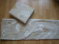 Next Woodland Embroidery Curtains Hidden Tab Lined 66 X 72