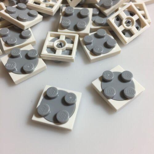 35 NEW LEGO 2x2 Turn Plates White Lower Grey Upper 3680//368001//3679//4540203