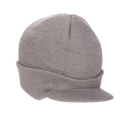 Unisex Knitted Crochet Winter Warm Visor Brim Ski Slouch Hats Caps Slouch Beanie