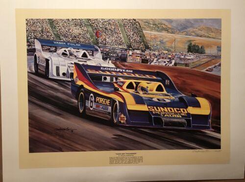"/""Can-Am Thunder/"" Porsche 917//30KL Donahue 1973 Riverside//Cademartori//SN Poster!"