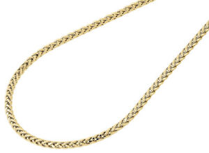 1a4b8d8813a3e Details about Mens Ladies 10K Yellow Gold 2.5MM Rounded Palm Wheat Chain  Necklace 18-40 Inches