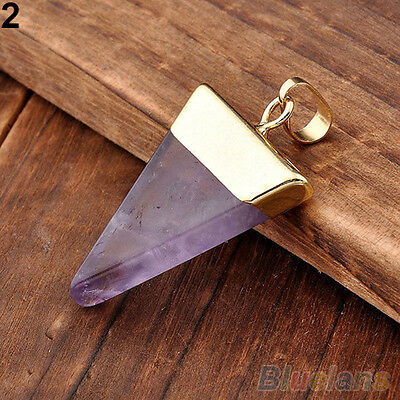 Stylish Quartz Pyramid Healing Point Reiki Chakra Gemstone Pendants For Necklace