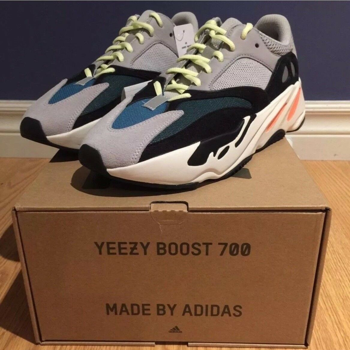 BNIB Adidas Yeezy Boost 700 Wave Runner US Sz 10 or 44, V2 500, Ready to Ship.