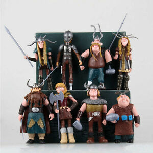 How to train your dragon set of 8pcs astrid gobber fishlegs action image is loading how to train your dragon set of 8pcs ccuart Images