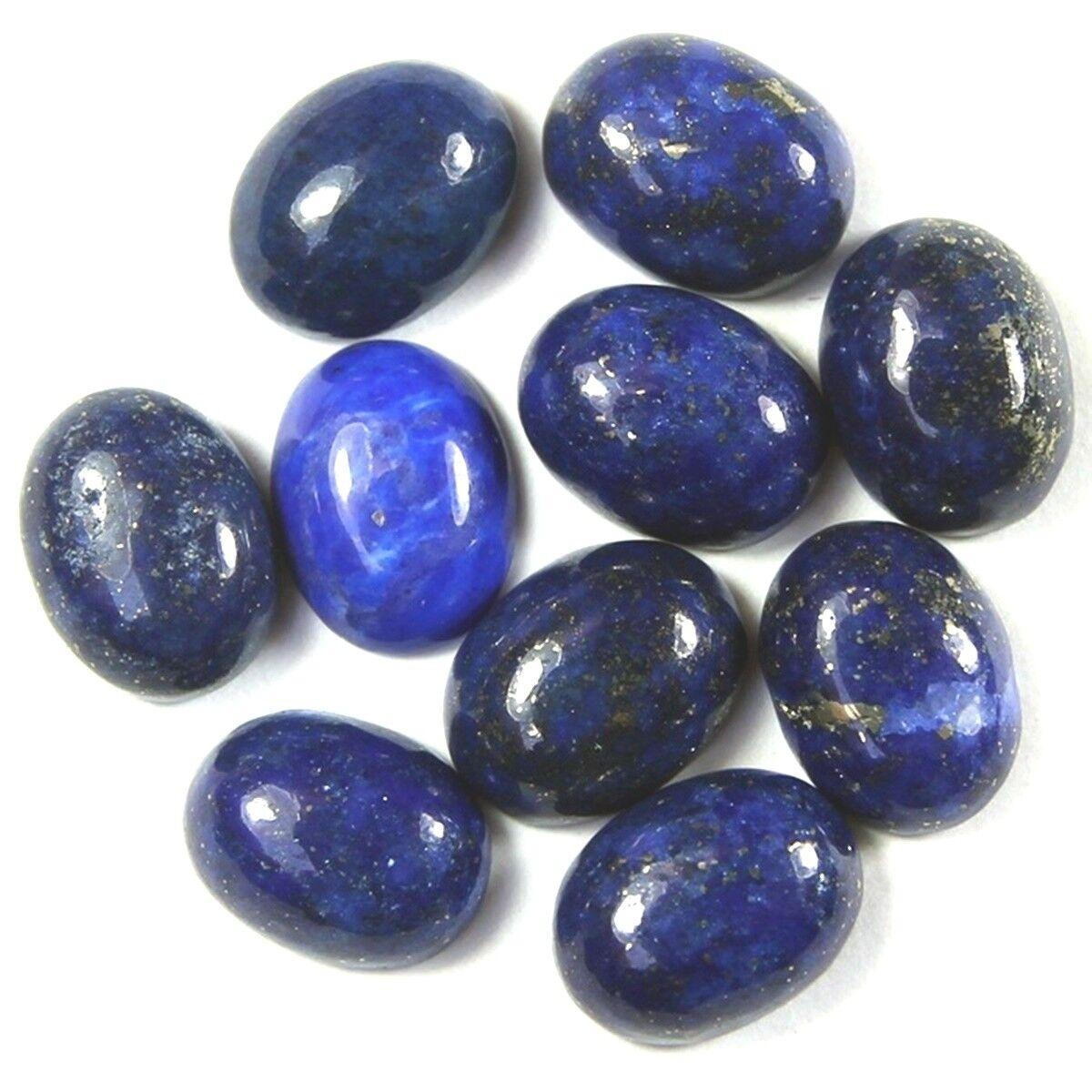 Venta al por mayor Lote de 6x4mm Oval cabujón de piedras preciosas naturales de tierra minada Peridoto