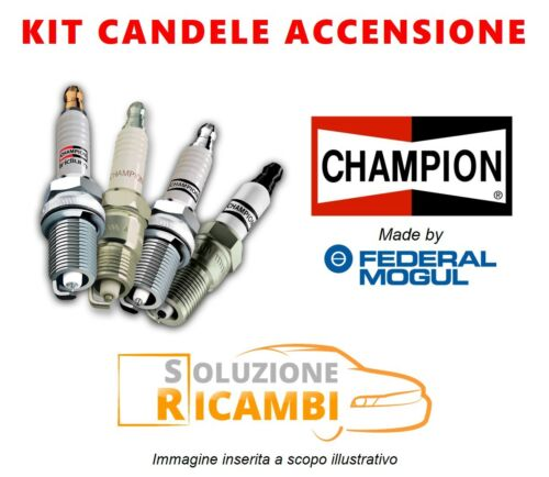 KIT 4 CANDELE CHAMPION FIAT PANDA /'80-/'04 900 33 KW 45 CV