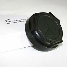 Portable Self-Retaining Auto Open&Close Black Lens Cap For Samsung EX1 EX2 EX2F