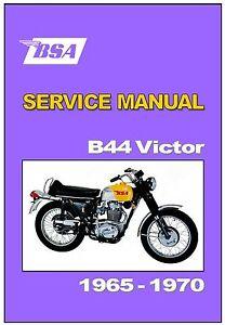 bsa workshop manual b44 victor enduro gp 1965 1966 1967 1968 1969 rh ebay com BSA 441 Victor Specs bsa b44 manual pdf