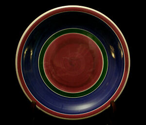 Purple-Blue-amp-Green-Bands-by-Furio-DINNER-PLATE-10-3-8-034-MADE-IN-ITALY