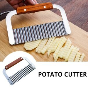 Crinkle-Wavy-Cutter-Stainless-Steel-Vegetable-Potato-Chip-French-Fry-Slicer-Tool