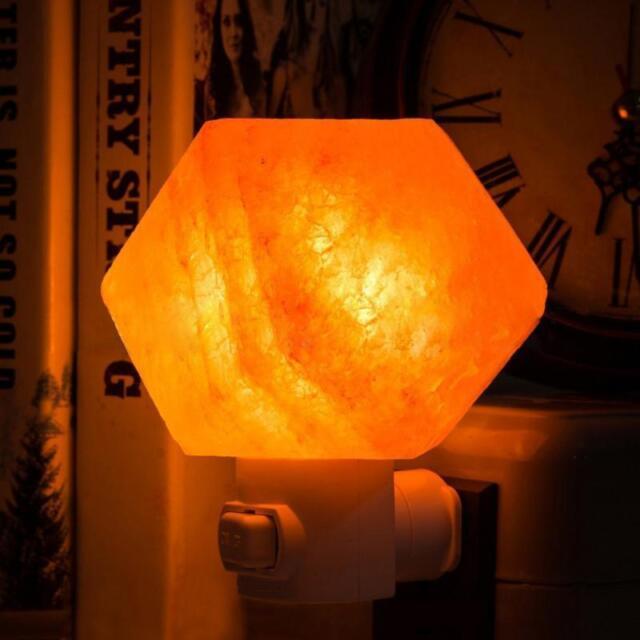 Himalayan Salt Lamp Natural Crystal Rock Shape Button Switch Night Light 1.3 lbs