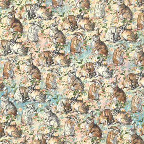 2 Graphic45 BE KIND 12x12 Dbl-Sided scrapbooking papers WOODLAND BUNNIES HARES