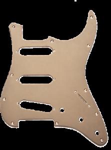Fiable Genuine Fender American Standard 11-trou Stratocaster Pickguard, Or Anodisé-afficher Le Titre D'origine
