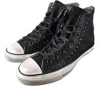 Converse John Varvatos Studded Leather Hi All Star Chuck Taylor BLACK 150162C