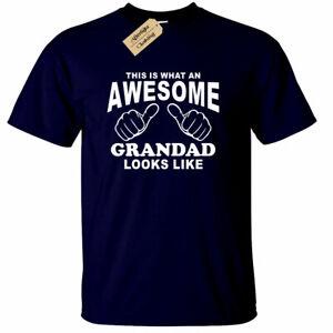 Stupenda-Nonno-T-Shirt-Uomo-Divertente-Regalo-Festa-Del-Papa