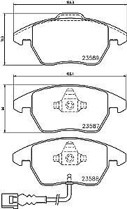 VW CADDY 1.9 2.0 SDI 04-10 FRONT /& REAR BRAKE PADS 280MM + CHECK TYPE