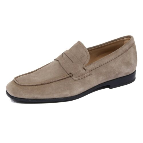 1763J mocassino uomo light brown torba TOD'S scarpe suede shoe loafer man