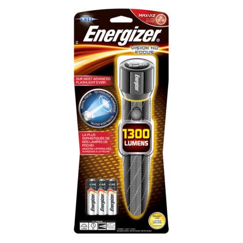 Energizer  1300 lumens Gray  LED  Flashlight  AA Battery