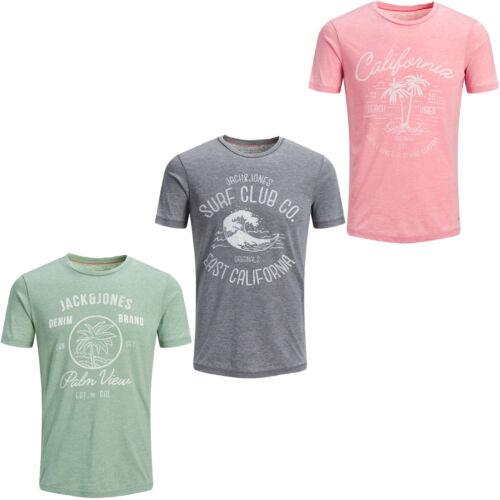 Jack /& Jones Originals T-Shirt Mens Chest Print Summer Cotton Tee JORNewHero