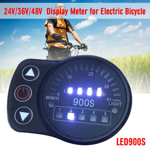 36V 48V SW900 LCD Display Panel Meter Controller For Electric Bicycle E-bike