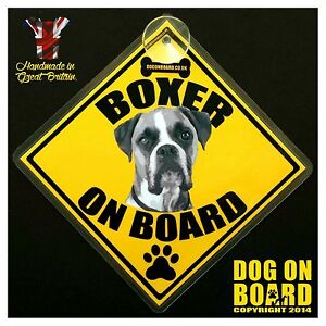 Boxer Dog on Board car signs LIMITED OFFERBUY ONE GET ONE FREE - <span itemprop='availableAtOrFrom'>Colchester, United Kingdom</span> - Boxer Dog on Board car signs LIMITED OFFERBUY ONE GET ONE FREE - Colchester, United Kingdom