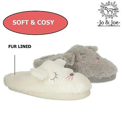 Ladies Novelty Bunny Ear Soft Plush Bootee Lounge Slipper Sizes 3-8