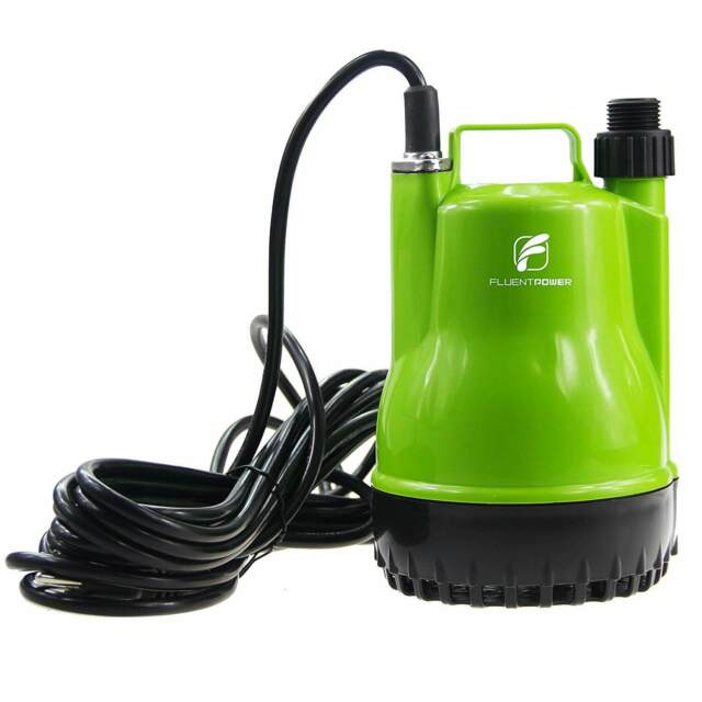 1/4 HP Portable Submersible Utility Pump with 1500 GPH Flow for Water  Removal