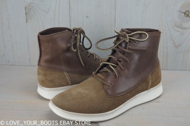 UGG LAMONT CHESTNUT LEATHER HIGH TOP CHUKKA BOOTS MENS US 10.5 NIB