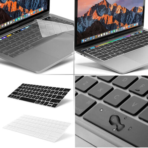 """US Keyboard Cover Skin for Macbook Pro 13//15/"""" with//out Touch Bar 2016-2017-2018"""