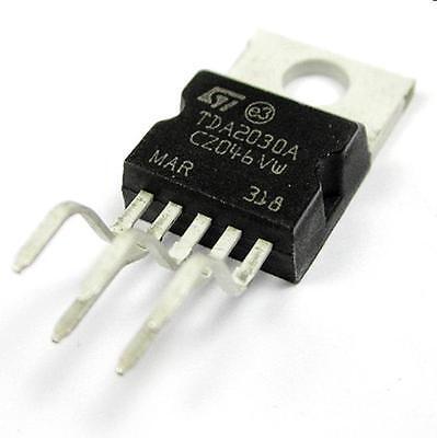 5PCS TDA2030 TDA2030A IC AMP AUDIO 18W MONO PENTAWATT5 New