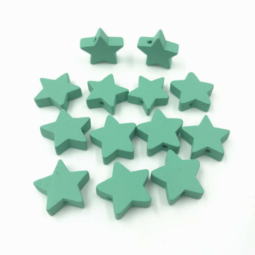 Wooden Bead Star shape for Baby Crafts/&Pacifier Clip Necklace Jewelry Making