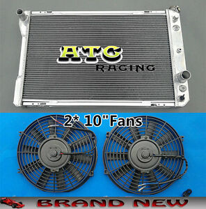 FANS for 1982-1992 Pontiac Firebird//Trans Am//Chevy Camaro V8 ALUMINUM RADIATOR