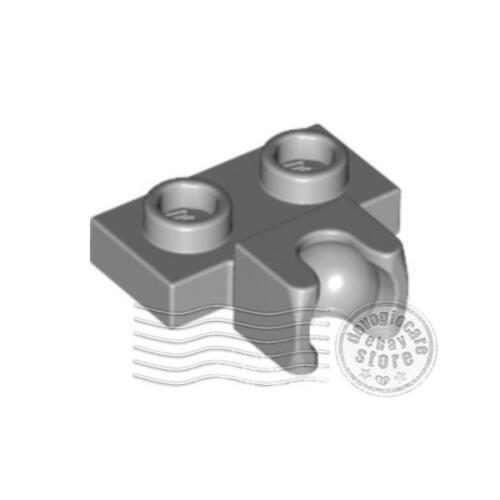 10x LEGO 14704 Piastra giunto sferico 1x2 Grigio chiaro6043656