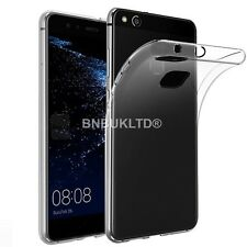 Transparent Clear Silicone Slim Gel Case & Screen Protector For Huawei P10 Lite