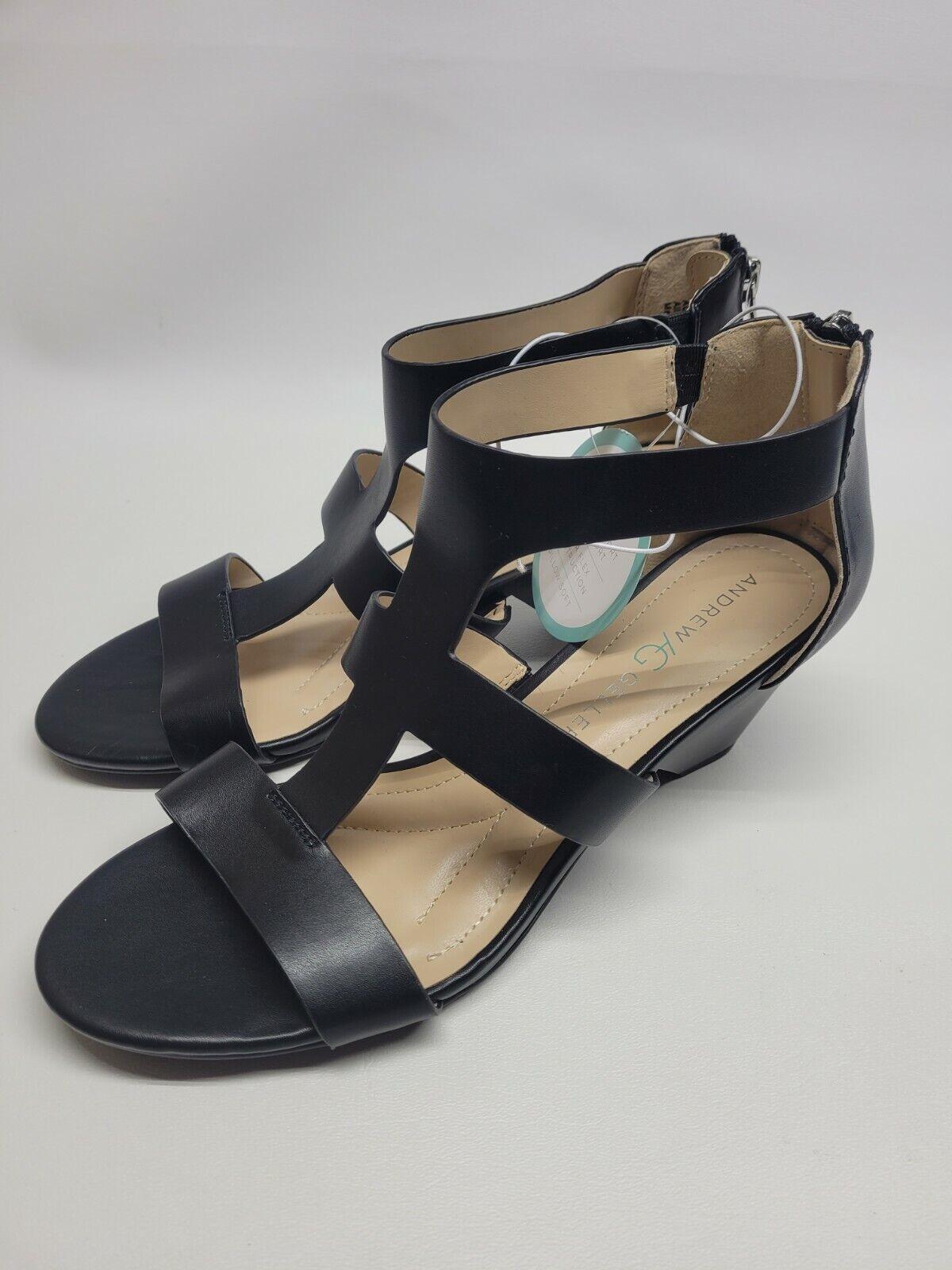 Andrew Geller Heels 9M Dagny black Shoes Women's Work Casual