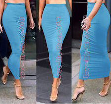 NEW SUMMER Tight Fit slim Casual Clubwear BODYCON Long MAXI Skirt SUN Dress (XL)