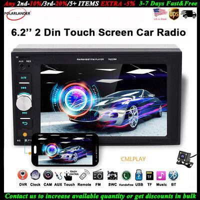 7/'/'2 DIN Car MP5 Player DVR//FM Stereo Touch Radio BT Head Unit Camera