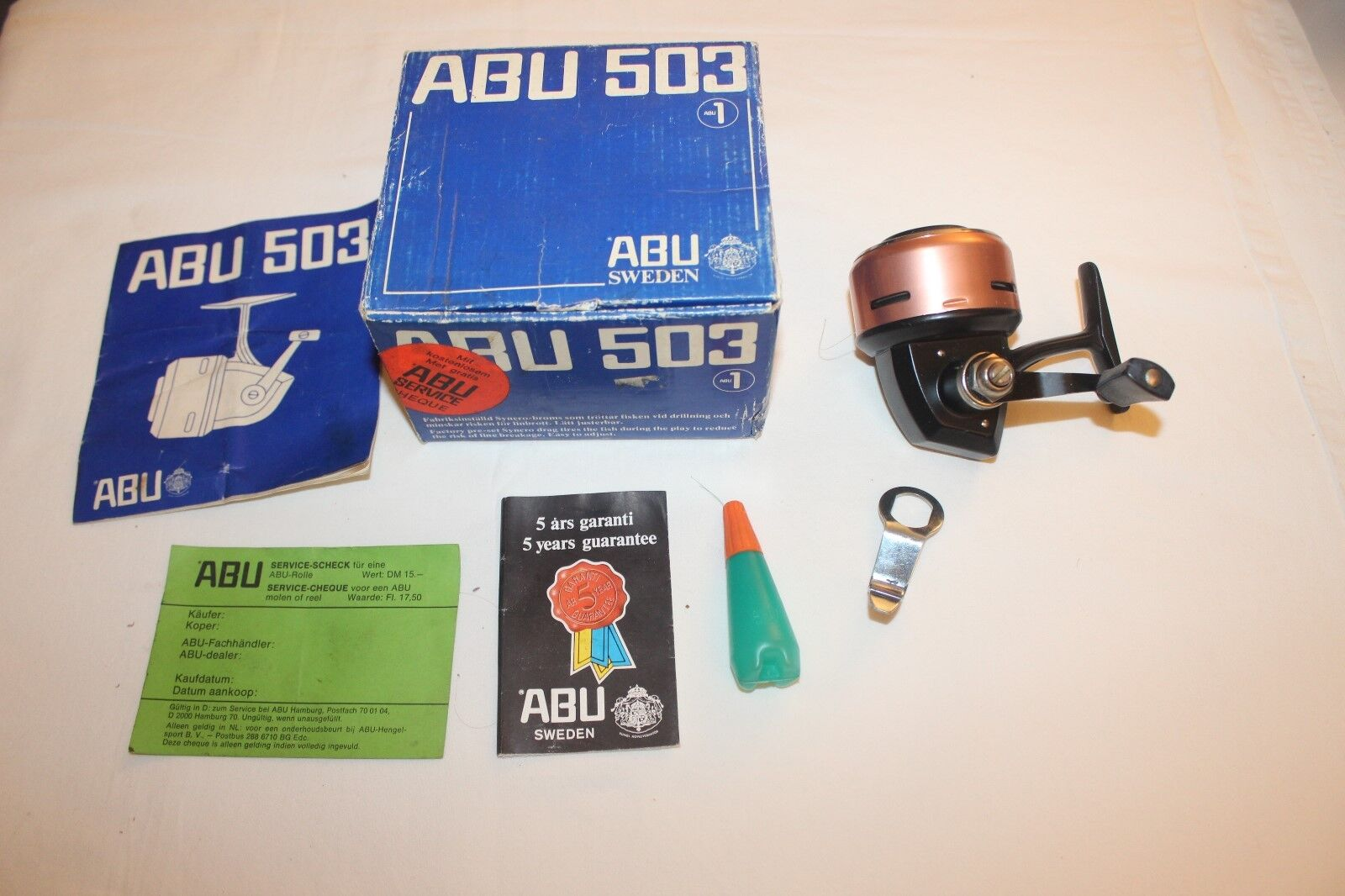 Abu 503  - In Original Box and Papers-Made in Sweden-nr-1347  offering 100%