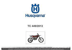 husqvarna tc449 full service repair manual 2011 2013