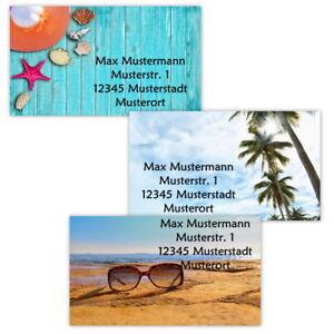 40-Adressetiketten-Adressaufkleber-oder-10-Visitenkarten-Motiv-034-Sommer-034