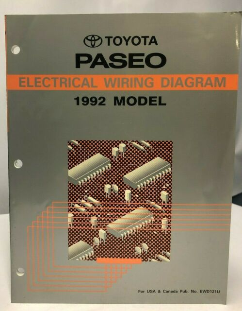 1992 Toyota Paseo Electrical Wiring Diagram Oem