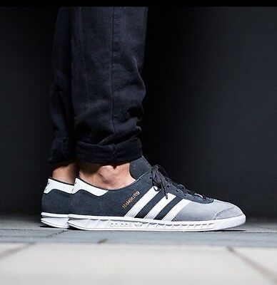 Adidas Hamburg Men 10.5 RARE 2/Tone Grey Suede/White Stripe NEW spezial samba | eBay