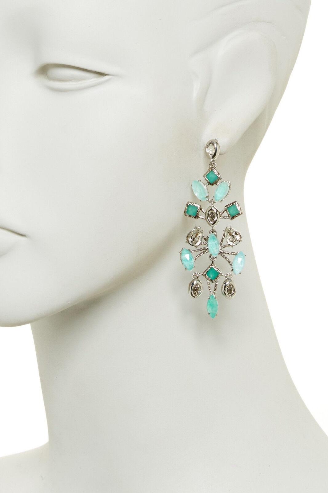 Alexis Bittar Elements Fancy Amazonite Mobile pink Cut Earrings.NEW 295