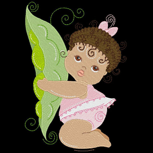 SWEET PEAPOD BABY GIRLS - 30 MACHINE EMBROIDERY DESIGNS (AZEB)