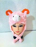 Halloween Costume Fluffy Animal Hat In Designs Of Bear, Dog, Ox, Pig, Etc