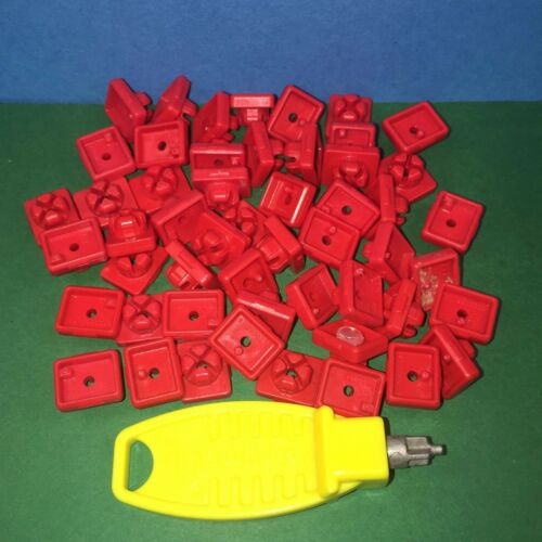 Sets of Clips x 50 Red Playmobil Ref 5