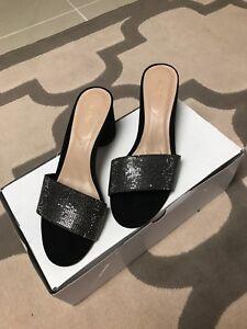 67eb45e3762607 Große Sandalen Von Elegant Marke Aldo Mit Neu Schwarz Mules 38 absatz 0dcqqT