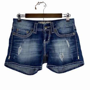 Buckle BKE Denim Culture Distressed Stretch Low Rise Jean Denim Shorts Size 27
